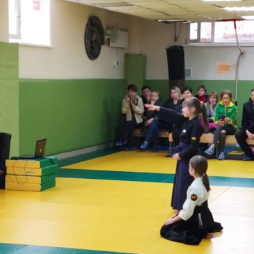 Аттестационная сессия по айкидо под руководством Савина Вячеслава Евгеньевича